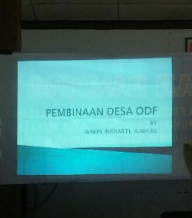 Pembinaan desa ODF (Open Defecation Free)
